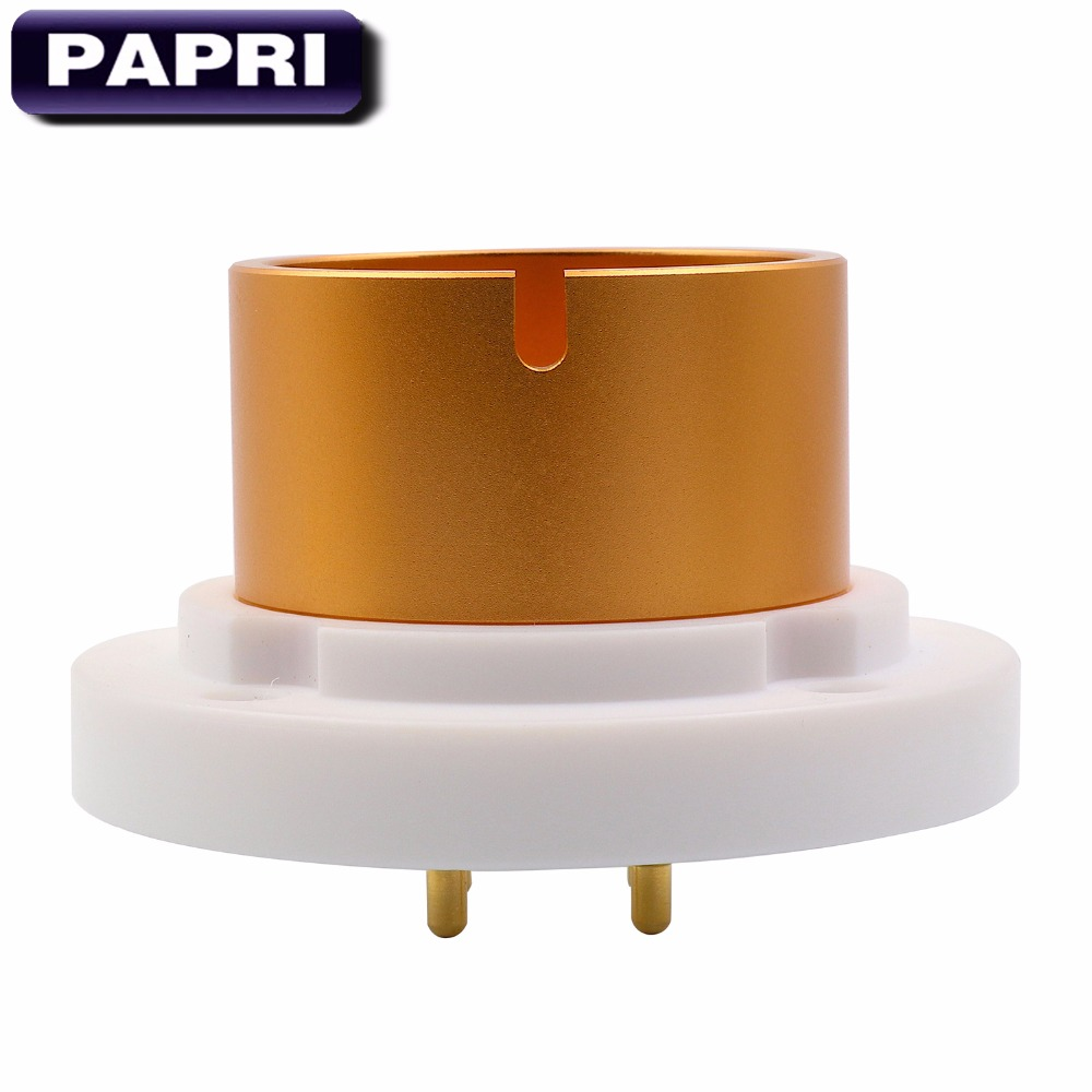 PAPRI 1PCS EIZZ High Quality 4PIN Teflon Jumbo Chassis Mount Tube Socket For 845 805 FU-5 810 211 Vacuum Tube