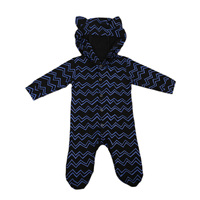 Adorable Infant Baby Rompers Kids Boy Cute Ears Hooded Romper Autumn Winter Jumpsuit Baby Long Sleeve