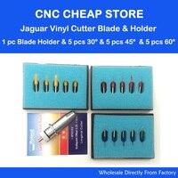 1pc Jaguar Gcc Cutting Plotter Signpal Vinyl Cutter Blade Holder + 5pcs Roland 45+5pcs 60+5pcs 30 degree Blades