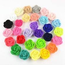 30pcs/lot 1.6'' Mini Felt Rose Flower Headband DIY Making Material Apparel Accessories 30 Color You Pick TH210