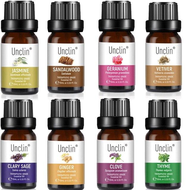 Difusor de aceites esenciales para el cuidado de la piel, difusor de aceites esenciales 100%, Natural y puro, masaje de eucalipto, manzanilla de jazmín, 10ml