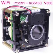 "Objectif WiFi 3.7mm H.265(3MP/2MP) 1/2.9 ""Sony STARVIS IMX291 CMOS + Hi3516C V300 caméra IP CCTV module de carte PCB + antenne FPC"