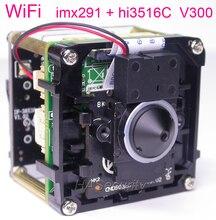 """Wifi 3.7mm lente h.265 (3mp/2mp) 1/2.9 """"sony starvis imx291 cmos + hi3516c v300 cctv ip câmera pcb placa módulo + fpc antena"""