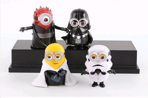 4pcs Set 8cm Minion Star Wars Minion