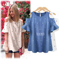 Blue,White XL,XXL,3XL,4XL 2016 plus size tops tunics women summer vintage print blusas feminina shirt casual woman blouse kimono