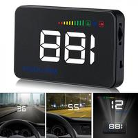 3.5'' Car HUD Head Up Display Speedometer OBD2 II EUOBD Auto Projector Parameter Display with Overspeed Warning function