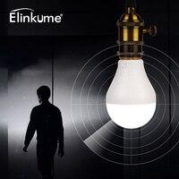 Elinkuume Intelligent LED Bulb Human Body Induction Radar Sensor Sensing 7W 220V 30LEDs 420LM PC Plastic
