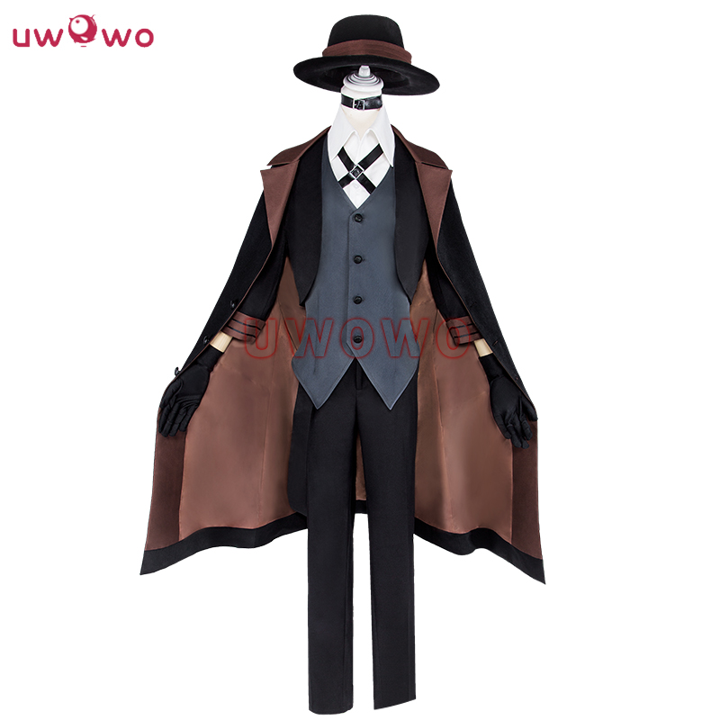 UWOWO Chuya Nakahara Cosplay Bungou Stray Dogs Costume Port Mafia Anime Cosplay Chuya Nakahara Costume Men