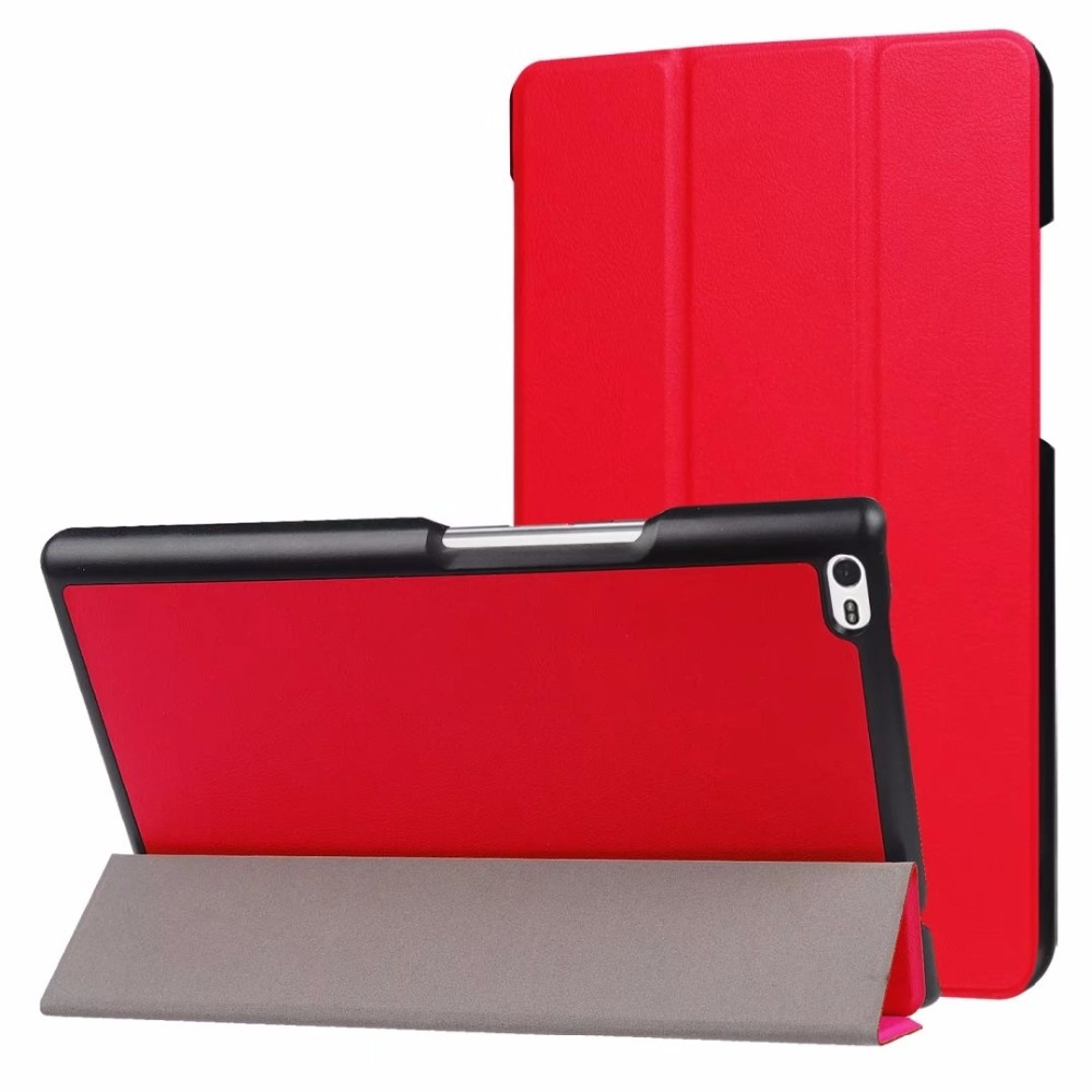 30pcs lot Folio Stand Custer PU Flip Protective Leather Case Cover For Lenovo Tab4 8 Tab