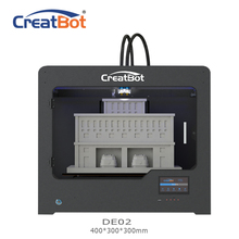 Metal extruder DE02 400*300*300mm 400 degrees Dual Extruder Creatbot 3d printer Large Size FDM 3D Machine House Use for sale