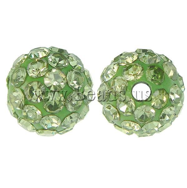 6mm Peridot color 10pcs   lot Chunky Resin Rhinestone Beads Bling Resin  Ball Beads for Chunky Necklace Jewelry d02904f38101