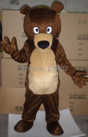 cosplay costumes  Brown Bear Mascot Costume Unisex Adult Size Fancy Dress