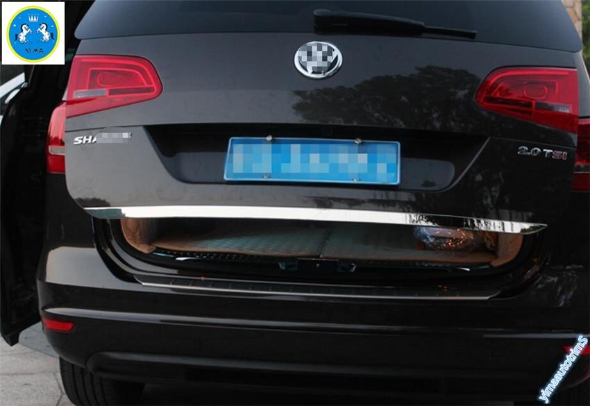 Nové příslušenství! Pro volkswagen Sharan 2012-2016 z nerezové oceli Zadní dveře zadní kapoty víka víka zavazadlového prostoru