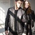 ANDREW MARC 2016 Men's Genuine Leather Jacket New Fashion Outwear Mandarin Collar  Leather Coat S-XXL  TM6AR303