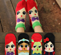 2015Han edition mermaid princess bubble mouth lovely new socks Ms cotton cartoon boat socks Female summer socks1526263115