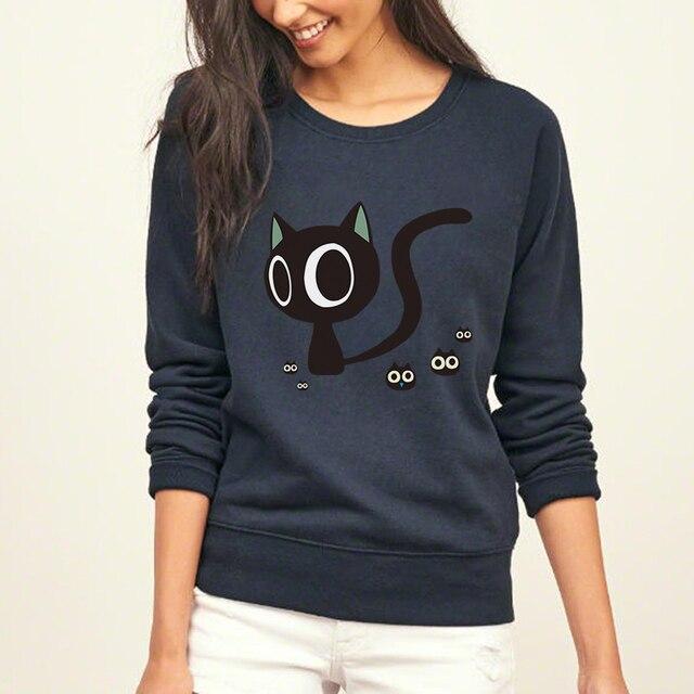 Streetwear estilo hipster sudaderas con capucha para mujeres de lana de  invierno de Otoño de punk 4cbabc8b2f63