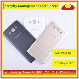 Image 5 - 50 шт./лот для Samsung Galaxy J7 2016 J710 SM J710F J710M J710H J710FN корпус батарейного отсека задняя крышка корпус