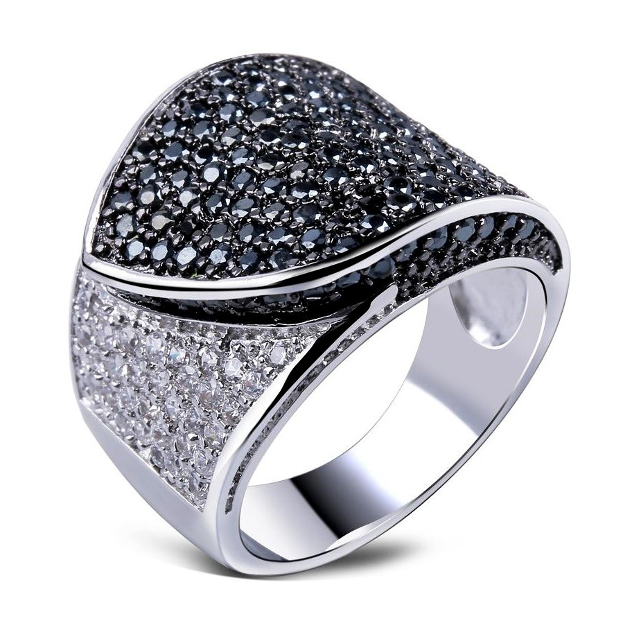 Jewellery Hot Gold Color Movie Stars Favorite Hot Selling Women Jewelry Rings Black -4076