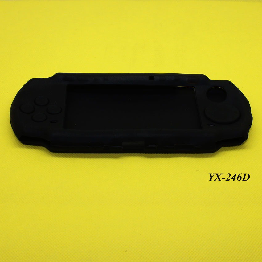 YX 246  4color Soft Silicone Rubber Skin Case Cover For PSP 2000 3000 Game Controllers Soft Gel Protective Case Cover