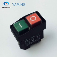 цена на Electromagnetic switch 5 Pin On Off Momentary red/green Push Button Emergency stop Ignition switch 12A 230V YCZ2