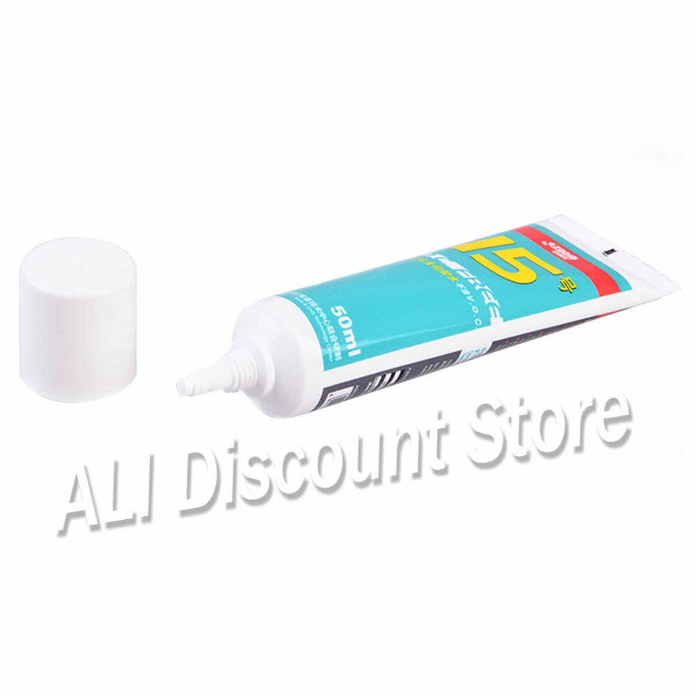 DHS No.15 50ml Table Tennis Glue Inorganic Table Tennis Rubber Glue For Gumming Blade Racket Ping Pong Paddle