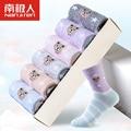 2017 Nueva Marca 6 par/lote carácter lindo calcetines de las mujeres 100% señoras del color del caramelo de algodón calcetines para oso encantador girls calcetines
