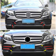 Lapetus Car Styling Front Fog Lights Lamp Eyebrow Eyelid Cover Trim For Mercedes Benz E Class W213 Sport E260 E300 2016 - 2019(China)