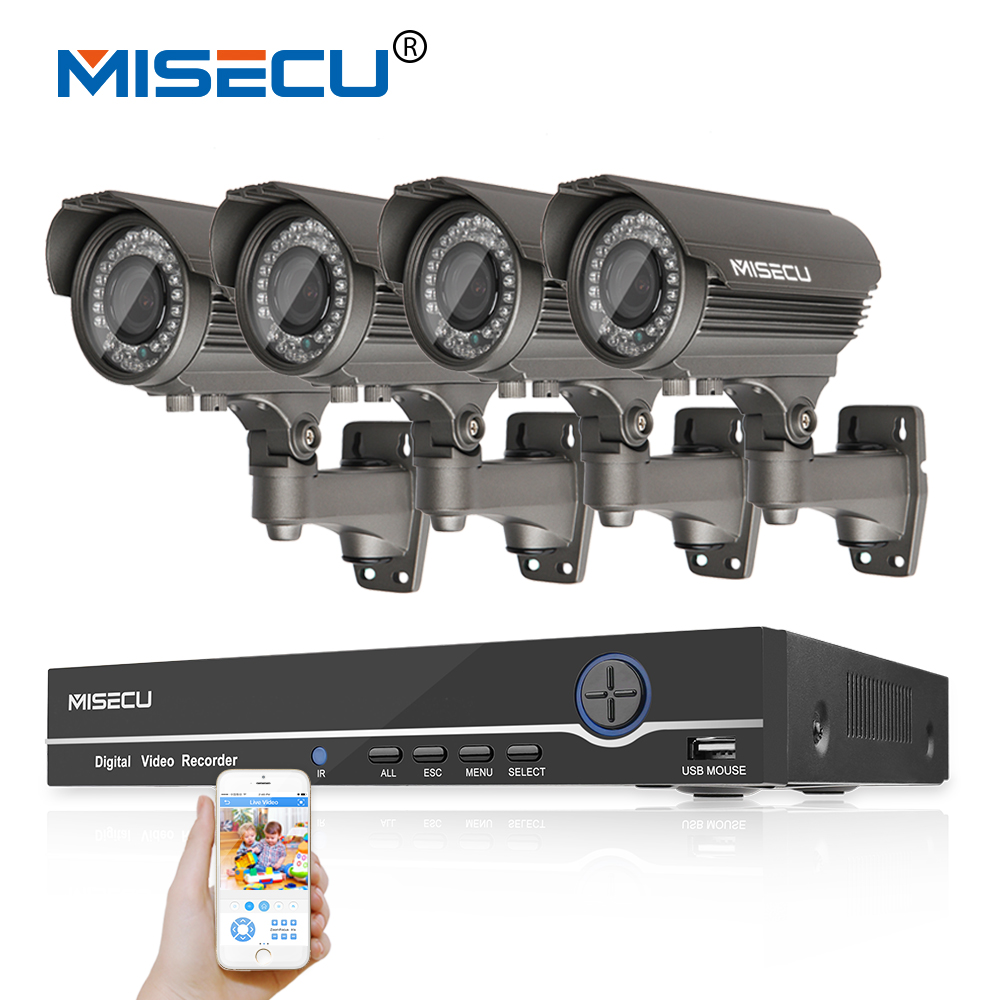 MISECU Hot 8CH 48V POE Onvif 1080P Full HD NVR KIT Hi3516c 2MP 4p POE IP