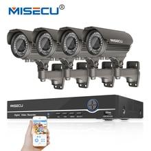 MISECU Heißer 8CH 48 V POE Onvif 1080 P Full HD NVR KIT Hi3516c 2MP 4 p POE IP IR 2,8-12mm zoomobjektiv Kamera nacht Wasserdicht P2P cctv