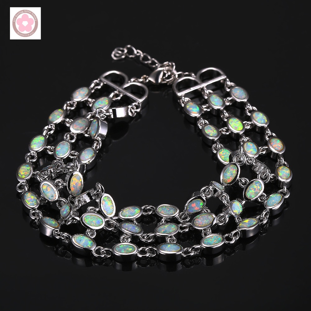 SZ0022  AAA Fire Opal Inlaid Fashion Bracelet For Women Jewelry Gift