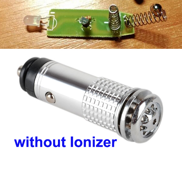 Очиститель воздуха 12 В Мини Авто Свежий Воздух Ионный Очиститель воздуха озоновый ионизатор очиститель - Название цвета: silver not Ionizer