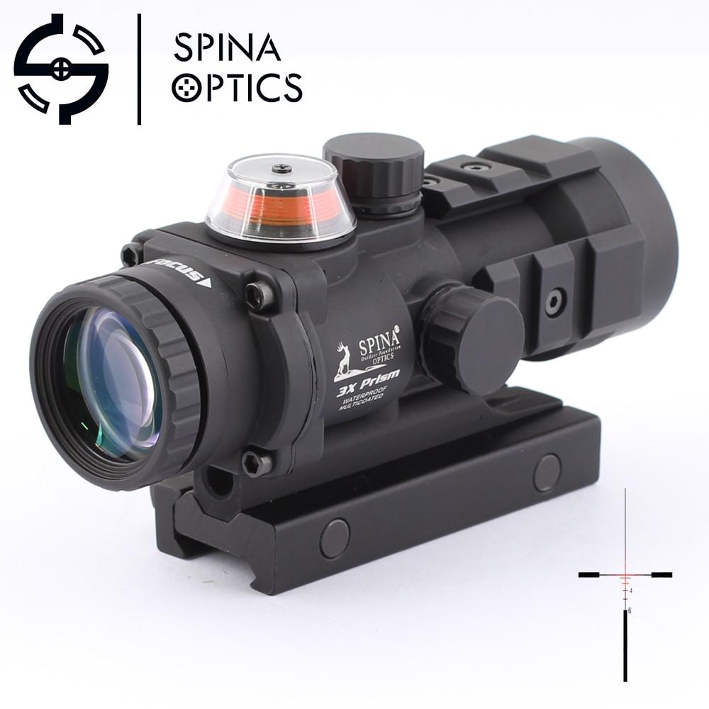 SPINA OPTICS Tactical Optical Sight 3x32 Gp01 Fiber Prism Red Illuminated Sight Riflescope For Hunting