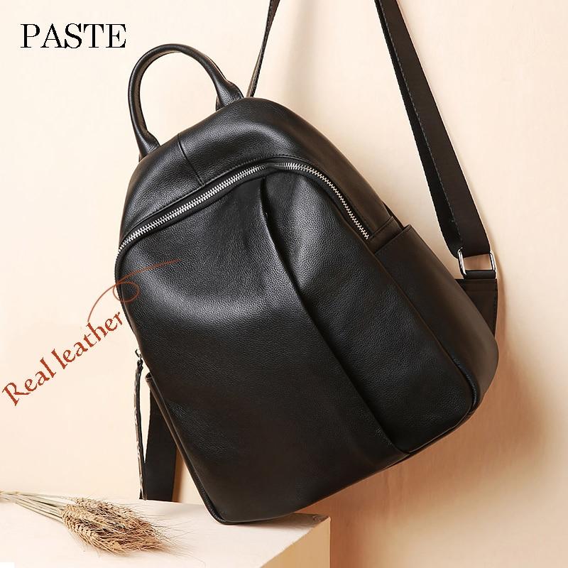 2018 Korean Backpack For Women Designer Backpack High Quality Cowhide Leather Female Luxury Laptop Travel Bag Girl Bookbag
