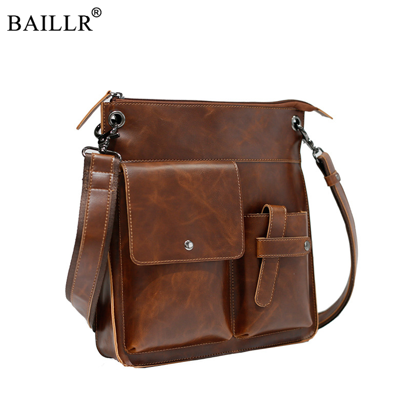 Vintage Crazy Horse PU Leather Men Bags Hot Sale Male Messenger Bag Man Fashion Crossbody Shoulder Bag Men's Travel New 2018 Bag contact s new 2017 genuine leather men bags hot sale male messenger bag man fashion crossbody shoulder bag men s travel bags
