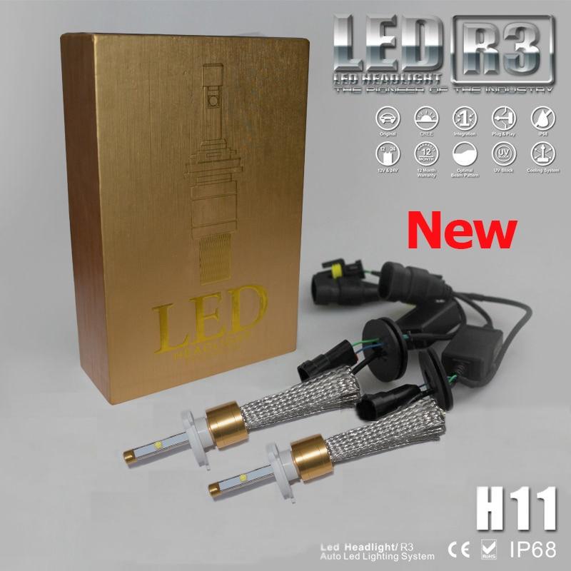 R3 80W 9600LM KIT H7 HID White 6000K CREE LED Conversion Headlight Bulb Lights