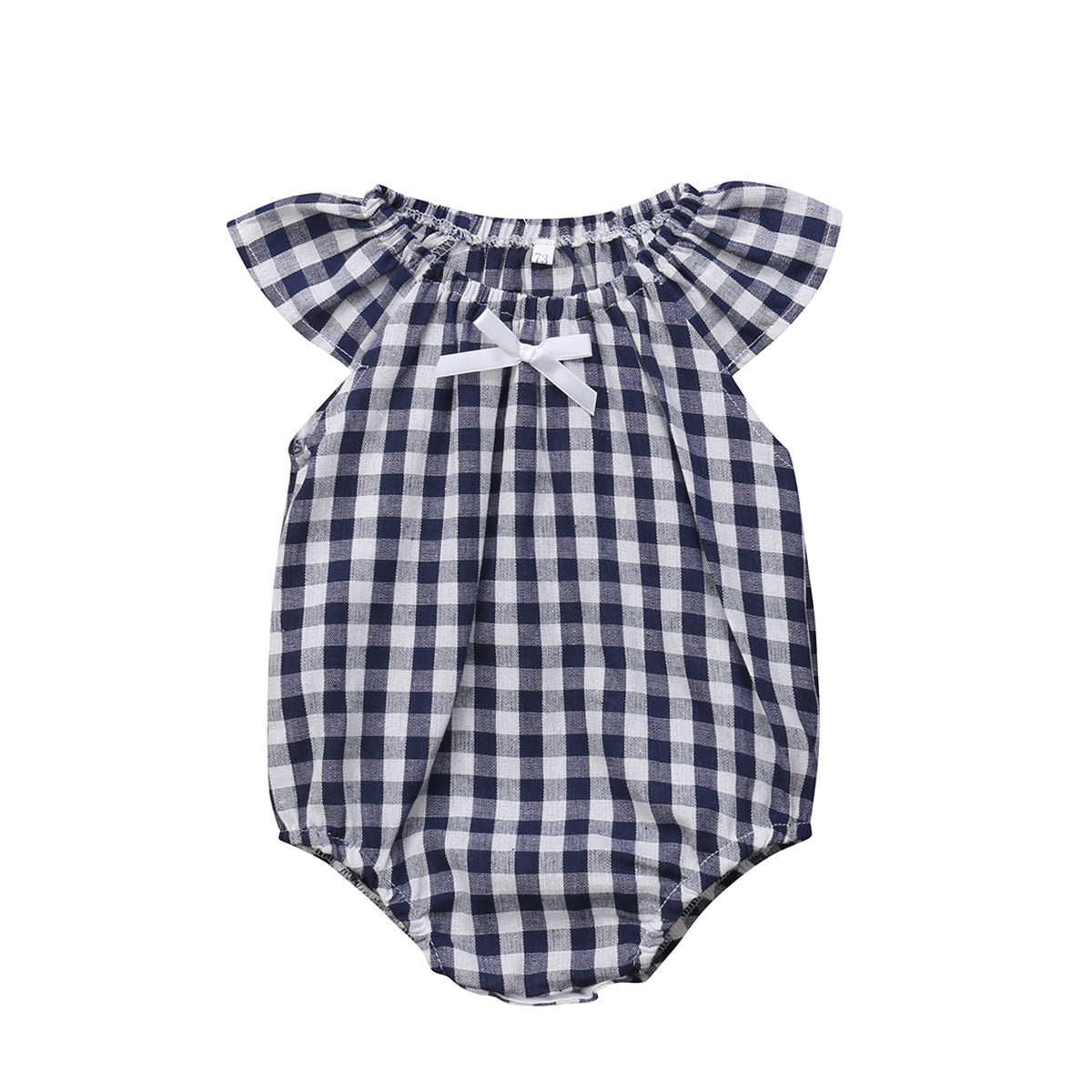 Pudcoco 2018 New Baby Girl   Rompers   Gray Plaid Newborn Infant Baby Girls Christmas   Rompers   Jumpsuit Playsuit