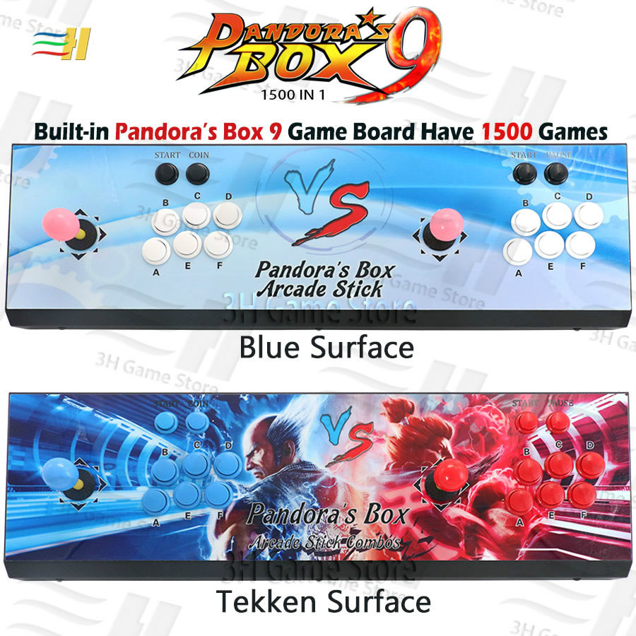 Pandora Box 9 1500 in 1 iron console Built in 1500 arcade game HDMI VGA output HD 720P Custom buttons Features arcade machinePandora Box 9 1500 in 1 iron console Built in 1500 arcade game HDMI VGA output HD 720P Custom buttons Features arcade machine