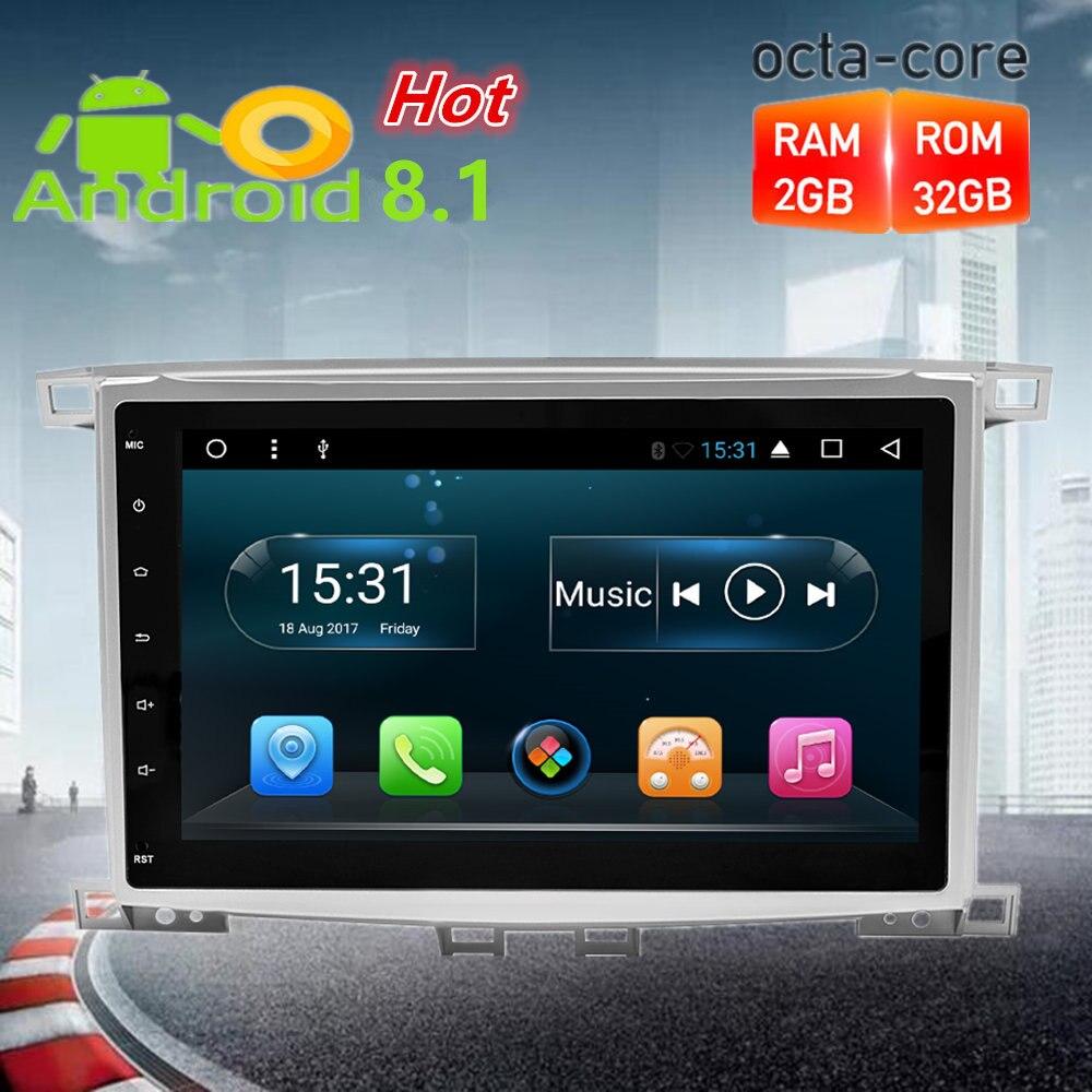 10,1 Octa Core Android 8.1Car радио gps навигации Мультимедиа Стерео для Toyota Land Cruiser100/LC100 Lexus LX470 1997 2004