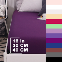 600TC Cotton Luxury Solid Fitted Sheet Mattress Cover Bed Sheets With Elastic Band Bedsheet Bedding Gray White Black Purple
