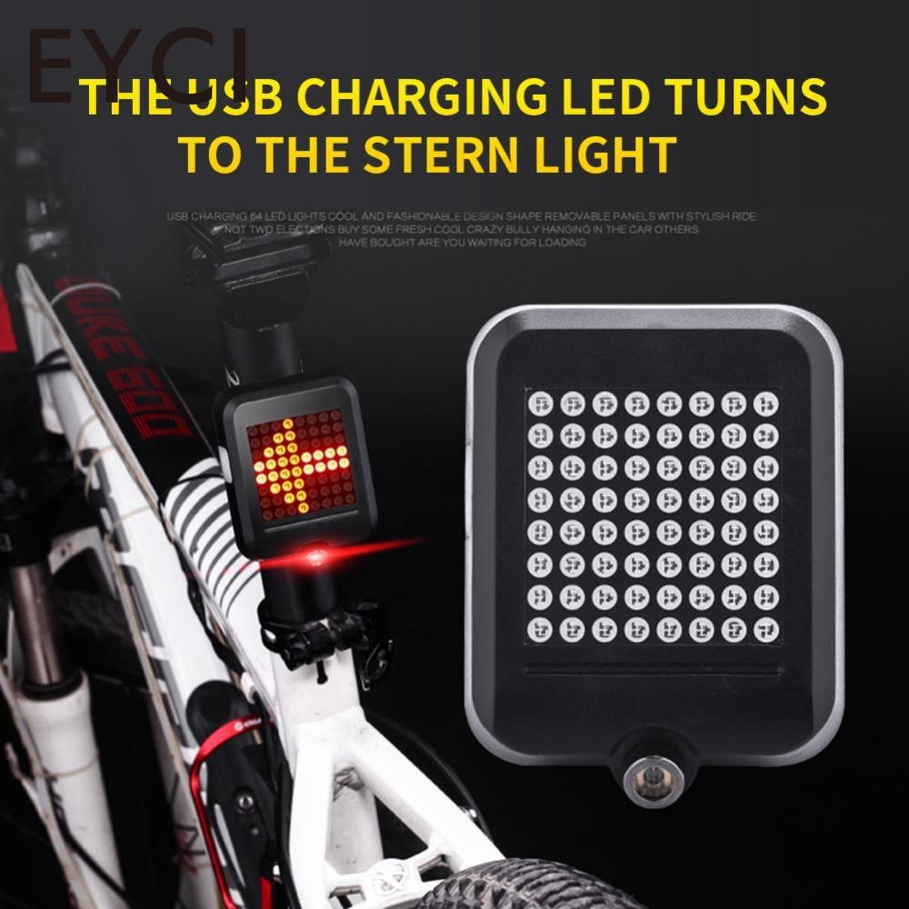 64LED Bicycle light Bike rear Light Intelligent Automatic Induction Safety Light USB Charging Turn Signals