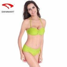SWIMMART bikini personality line design swimsuit swimwear women high waist bikini bathing suit swimming suit bikini push up black bikini suit with lace up design