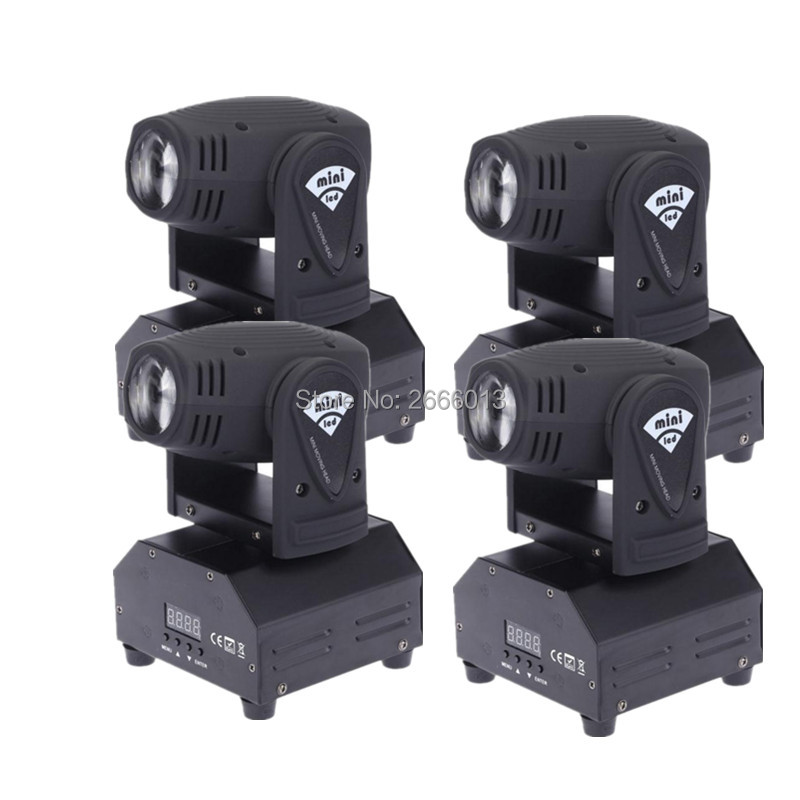 все цены на 4pcs/lot 10W Beam LED Moving Head Light/RGBW Mini Linear Beam For DJ Party Nightclub Lives Disco Stage Lighting/DMX Spot Lights онлайн