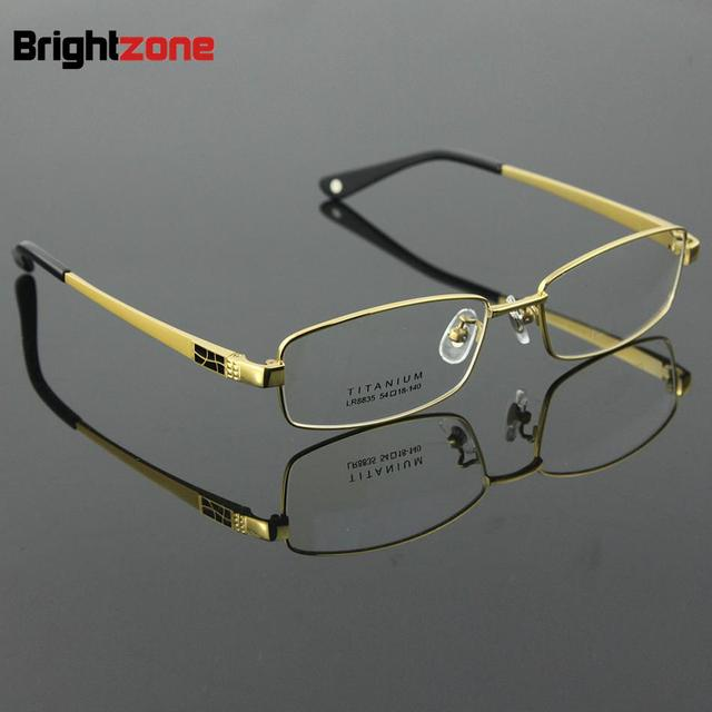 10d39d77acc Full Rim Pure Titanium Men s Eyeglasses Frame Eyewear Prescription Glasses  Frame Size 54-18-