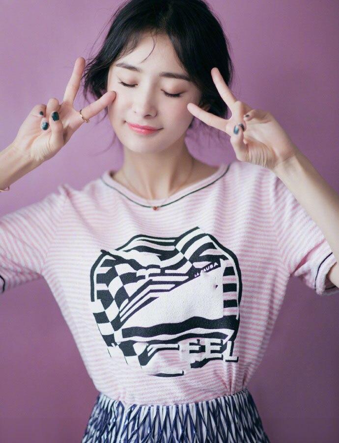 Di lusso di Marca di Rosa di Cotone A Righe Maglietta Girocollo Anteriore modello di Nave della Barca Logo In Rilievo di Stampa BOUTIQUE TOP TEES PER LA DONNA 2019SS