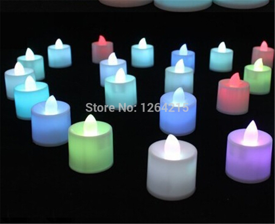 400pcs/lot romantic LED light Candle Lamp Flicker Flameless Candles Light party Christmas Decoration