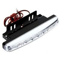 8X 8 LED Super Bright Car DRL Daytime Running Light Bulb DC 12V White