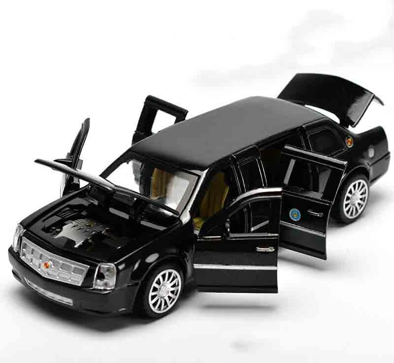 Высокая моделирования изысканные модели Игрушечные лошадки фабрики в президенты США Лимузин одна армия модель автомобиля для Cadillac DTS 1:32 с... ...