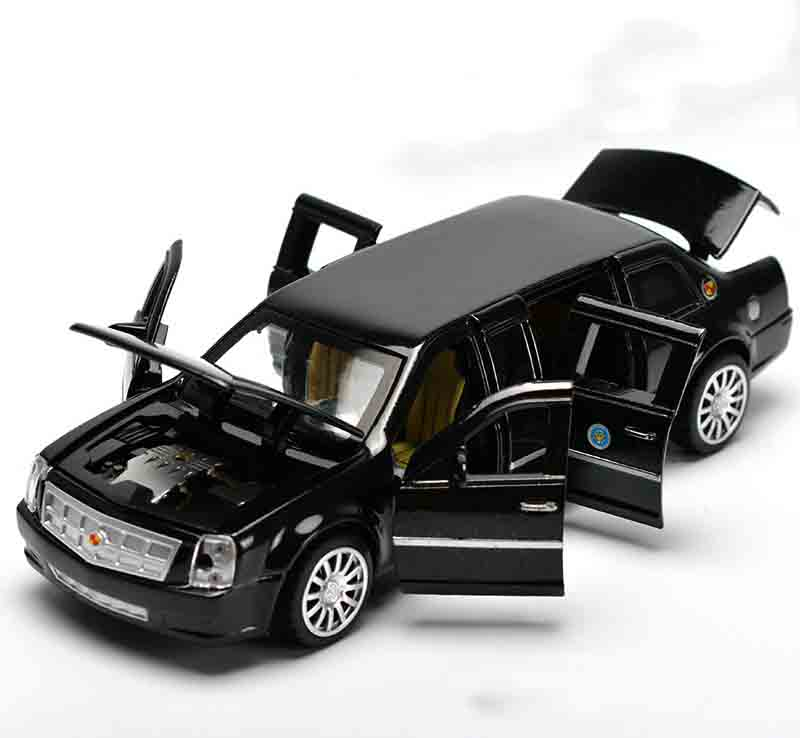 High Simulation Exquisite Model Toys ShengHui U.S. Presidential Limousine One Army Car Model for Cadillac DTS 1:32 Alloy Car ...
