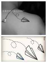Disposable Waterproof Body Tattoo Tattoo Stickers Paper Plane Sticker HC1079