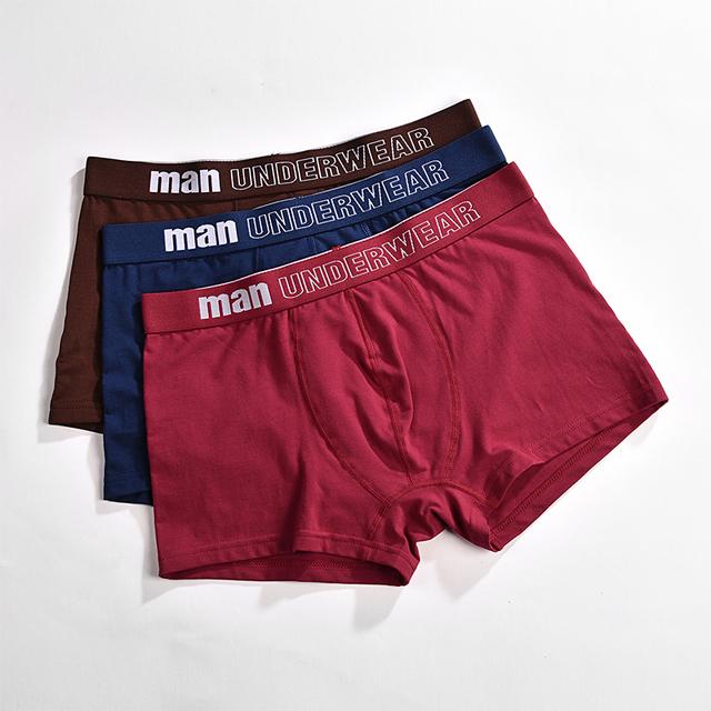 Men's Cotton Solid Color Boxers